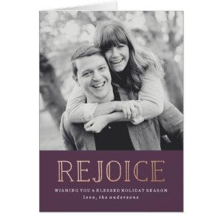 Rejoice | Holiday Photo Card