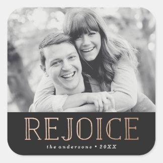 Rejoice | Holiday Photo Sticker