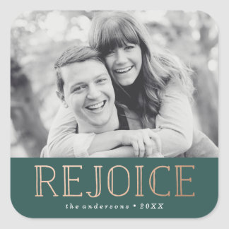 Rejoice   Holiday Photo Sticker