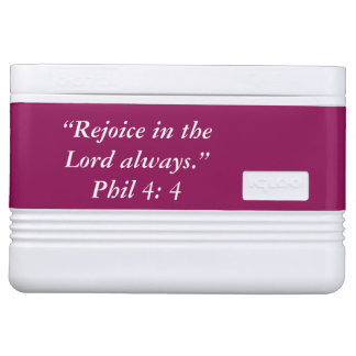 """Rejoice"" Igloo Scripture 12 Can Cooler"