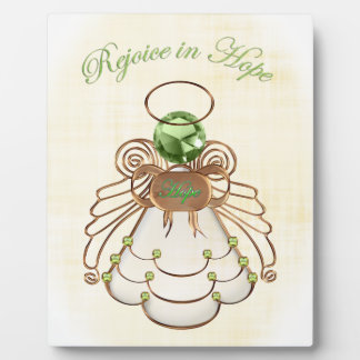 Rejoice in Hope - Christmas Angel of Hope Display Plaques