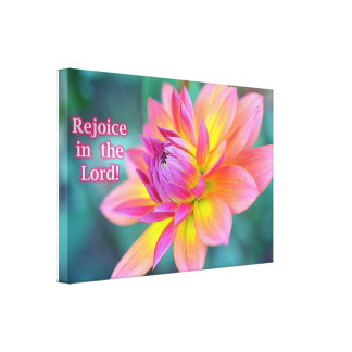 Rejoice In The Lord Canvas Canvas Print