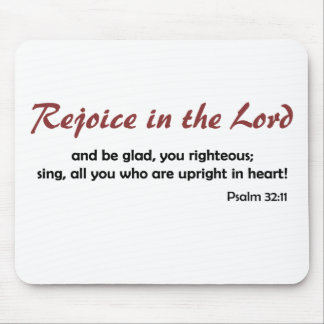 Rejoice in the Lord (light background) Mouse Pad