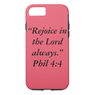 """""""Rejoice"""" Iphone 7 Cell Phone Case"""