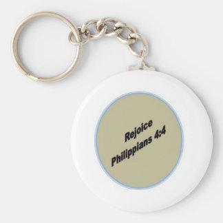 Rejoice Keychain Round
