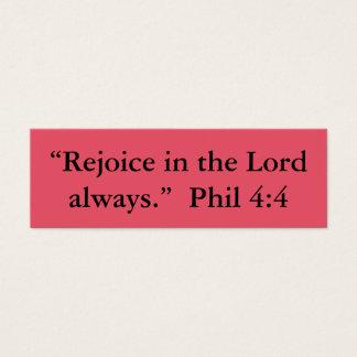 """""""Rejoice"""" Little Notes Mini Business Card"""
