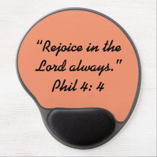 """""""Rejoice"""" Motivational Gel MousePad"""