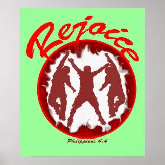 Rejoice - Philippians 4.4 Poster