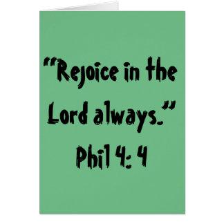 """Rejoice"" Scripture Greeting Card"