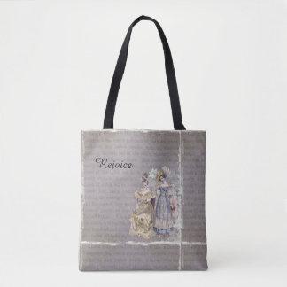 Rejoice Vintage Art Print Tote Bag