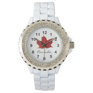 Rel Maple Canadian fall leaf Watch