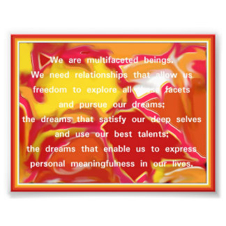 Relationship Quote on Abstract Art Photo Print