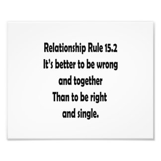 relationship rule 15 2 better to be wrong art photo