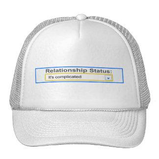 Relationship Status It's Complicated Design Trucker Hats