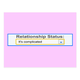 Relationship Status It's Complicated Design Postcard