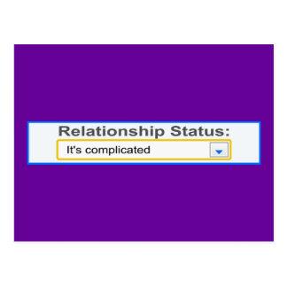 Relationship Status It's Complicated Design Postcard