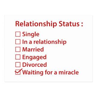 Relationship Status Postcard