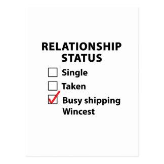 Relationship Status - Wincest Postcard