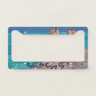 Relax and Enjoy in the Ocean Licence Plate Frame