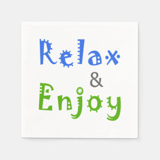 Relax and Enjoy Paper Serviettes