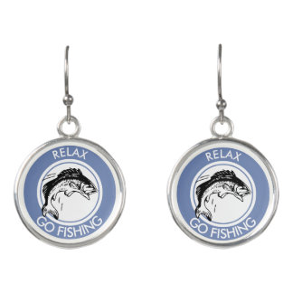 RELAX AND GO FISHING EARRINGS