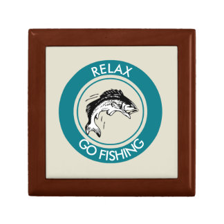 RELAX AND GO FISHING GIFT BOX