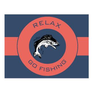 RELAXANDGO FISHING POSTCARD