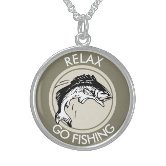RELAXANDGO FISHING STERLING SILVER NECKLACE