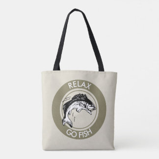 RELAX AND GO FISHING TOTE BAG