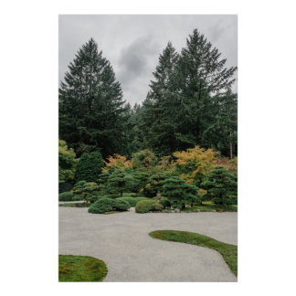 Relax at a Japanese Garden Poster
