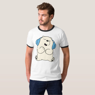 Relax Bear Head Phone T-Shirt
