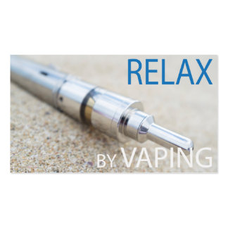 Relax by vaping business card