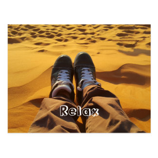 Relax, enjoy the day postcard