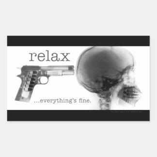 Relax...Everything's Fine (Gun to the Head X-Ray) Rectangular Sticker