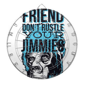 relax friends don't rustle, monkey dartboard