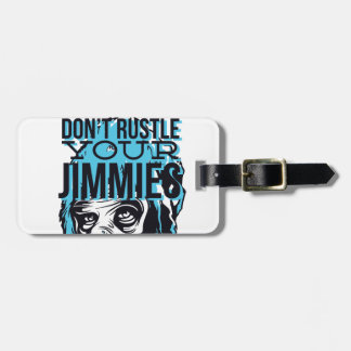 relax friends don't rustle, monkey luggage tag