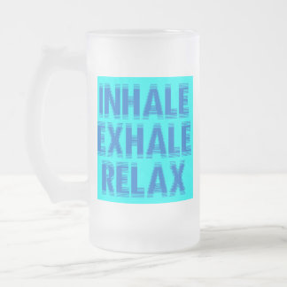 Relax Frosted Glass Beer Mug