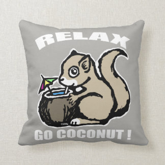 Relax! Go Coconut Throw Pillow
