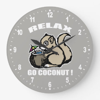 Relax! Go Coconut Wall Clock