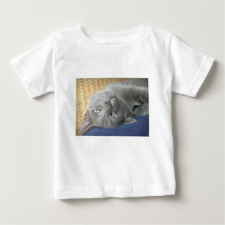 Relax! Grey Purring Cat Baby T-Shirt