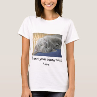 Relax! Grey Purring Cat - white T-Shirt for Women