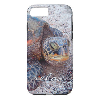 """Relax"" Hawaiian sea turtle photo cell phone case"