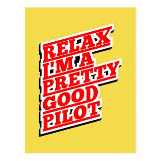Relax I'm a pretty good pilot Postcard