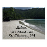 Relax, it's island time, St. Thomas VI Postcard