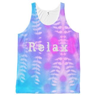 Relax leaf print All-Over print singlet