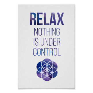 Relax Mindfulness Buddha Quote Poster