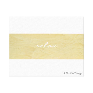 Relax Minimalism Canvas Art Print Gallery Wrapped Canvas
