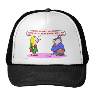 relax mowing lawn mesh hats