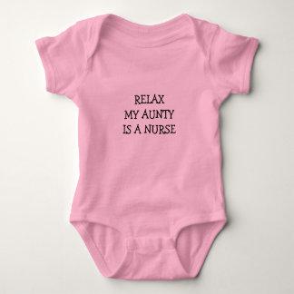 RELAX My Aunty Is A Nurse Baby Bodysuit