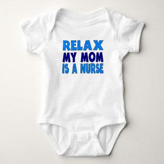 Relax My Mom Is A Nurse Baby Bodysuit